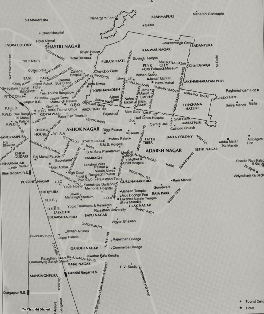 jaipur Map jaipur Tourist Map jaipur Road Map jaipur City Map